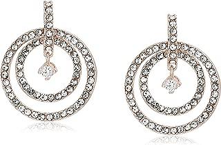 Women's Crystal Orbital Drop Earrings, Rose Gold