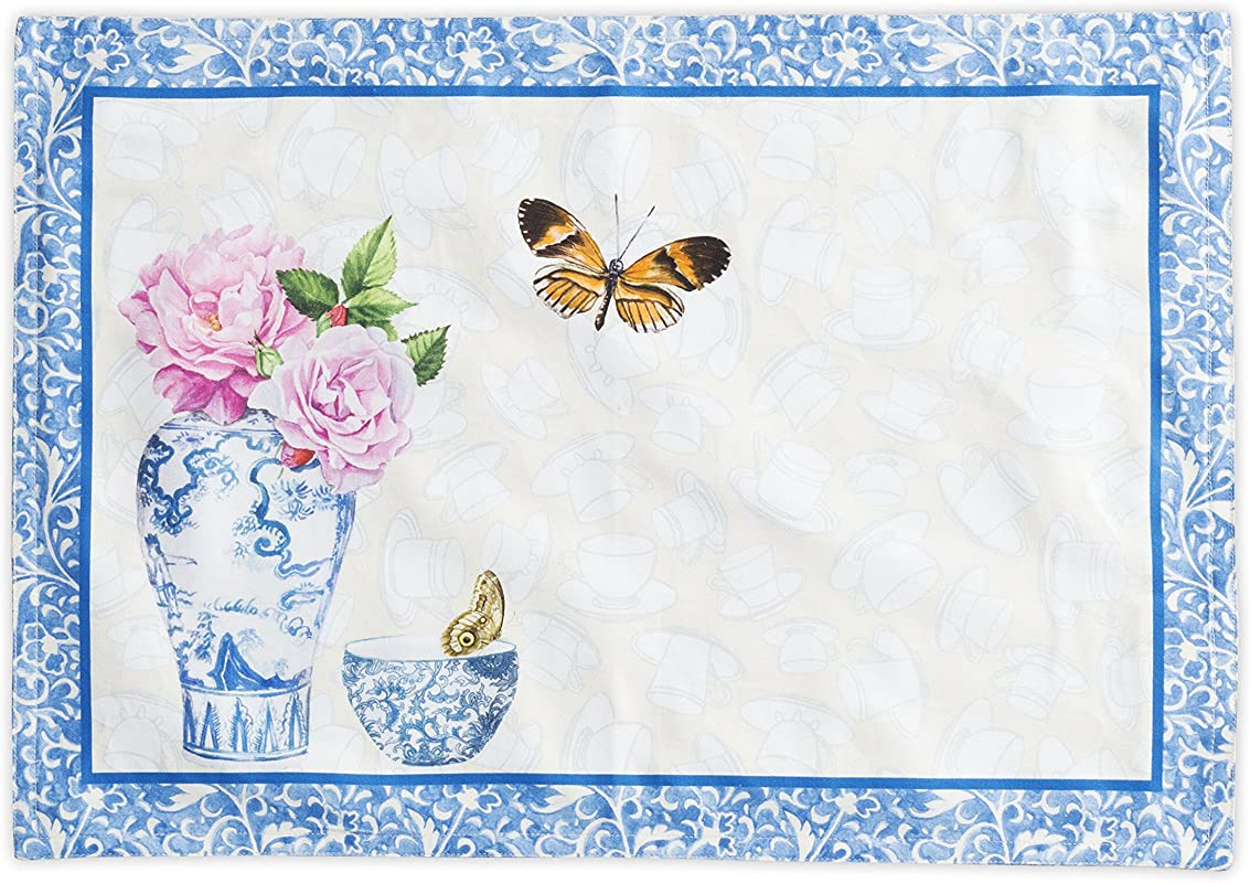 Maison D Hermine Canton 100 Cotton Set Of 2 Placemats 13 Inch By 19 Inch