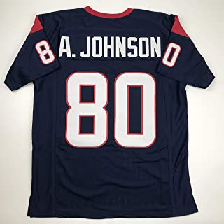 Unsigned Andre Johnson Houston Blue Custom Stitched Football Jersey Size Men's XL New No Brands/Logos