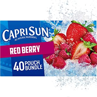 Capri Sun Red Berry Ready-to-Drink Juice (40 Pouches, 4 Boxes of 10)