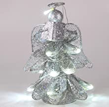 Christmas Concepts® 8 Inch Stunning Metal Mesh Christmas Tree Top Angel with White LED Lights