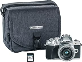 Olympus OM-D E-M10 Mark III Camera Kit with 14-42mm EZ Lens (Silver), Camera Bag & Memory Card, Wi-Fi Enabled, 4K Video, U...