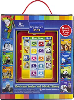 Encyclopedia Britannica Kids Me Reader Electronic Reader and 8 Sound Book Library - PI Kids