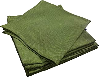 Olive Green Linen Napkins Cotton, 49x49 Cms, (Set of 6)