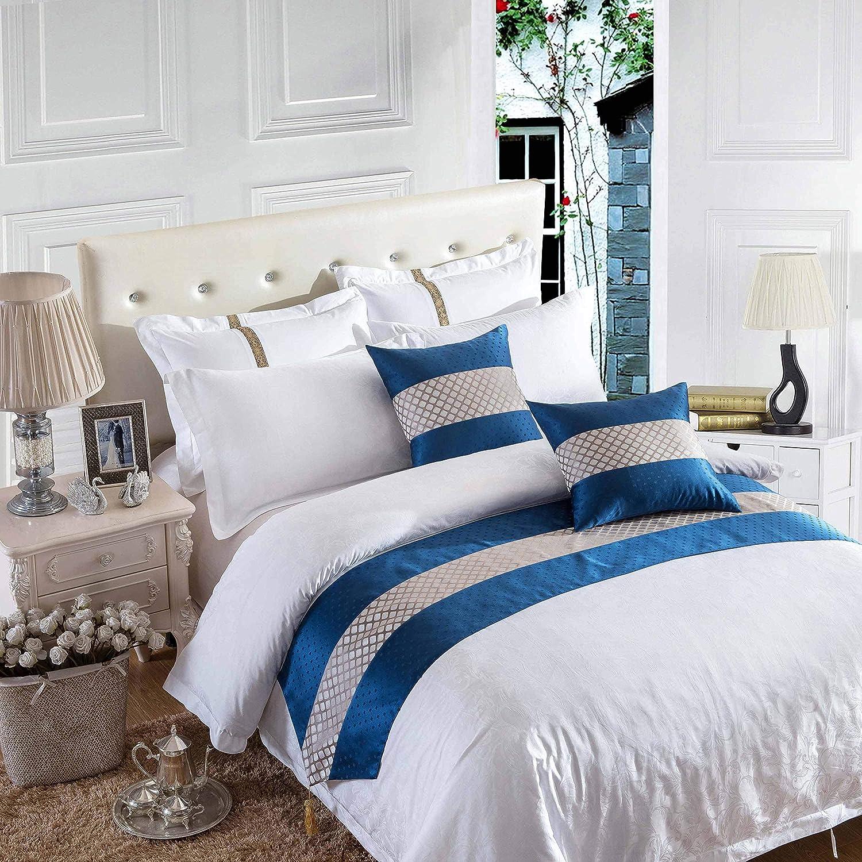 OSVINO Bed Runner D/écoratif Chemin de Lit Classique Double Gris Or Argent/é en Tissu M/élange Coureurs de Lit Gris argent/é 180X50cm pour 120cm lit