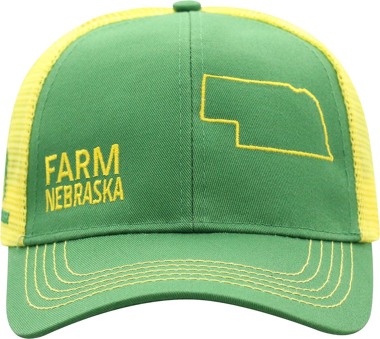 John Deere Farm State Pride Cap-Green and Yellow-Nebraska