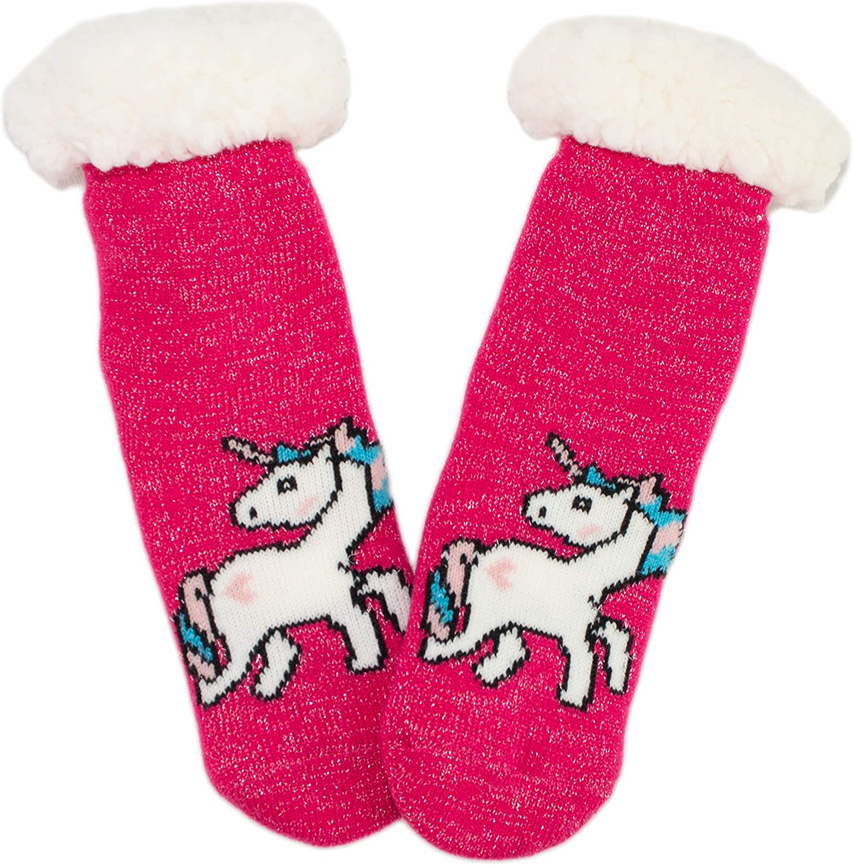 Warm Memphis Mall Winter Unicorn Non-Skid Anti Slip Lined S Plush Limited time cheap sale Fleece Tall