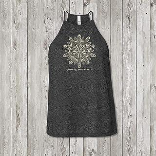 Ladies Preserve Your Peace Surf Flower High Neck Yoga Tank