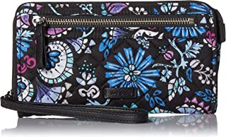 Vera Bradley womens Iconic Rfid Front Zip Wristlet, Signature Cotton