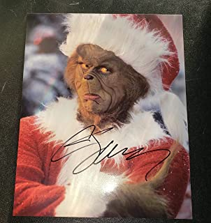 Jim Carrey - Autographed Signed 8x10 inch Photograph - The Grinch Christmas