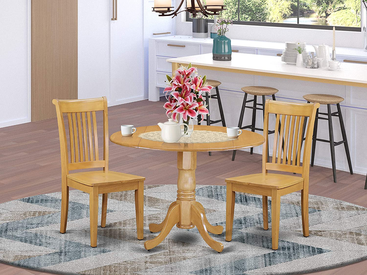 9 PC Dublin kitchen table set Dining table and 9 Wood Seat Kitchen chairs