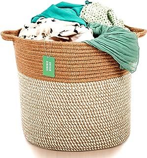 Extra Large Woven Jute Storage Baskets | 17
