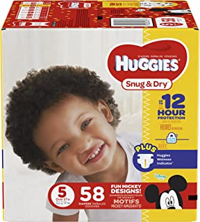 Huggies Snug and Dry Diapers, Size 5, 58 Count (Packaging May Vary)