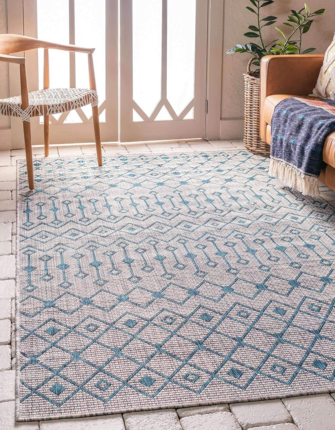 Unique Loom shop Trellis Collection Max 77% OFF Tribal Transitional Geometric Ind