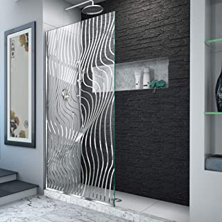 DreamLine Platinum Linea Surf 34 in. W x 72 in. H Single Panel Frameless Shower Screen in Polished Stainless Steel, D32347...