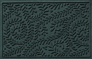 Bungalow Flooring Waterhog, 2' x 3' Durable and Decorative Floor Covering, Made in USA, Skid Resistant, Indoor/Outdoor, Water-Trapping, Boxwood Collection, Evergreen