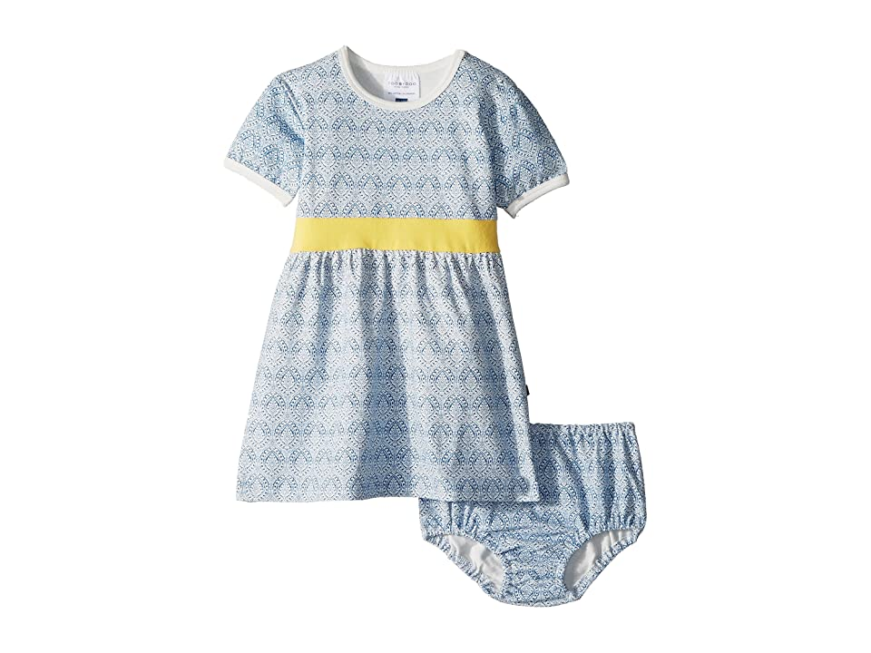 Toobydoo Blue and Gold Party Dress (Infant/Toddler) (Blue) Girl