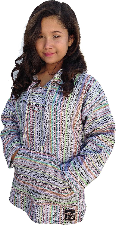 No Bad Days Lowest Fixed price for sale price challenge Baja Hoodie Mexican - Mini Cream Poncho Diam Rainbow