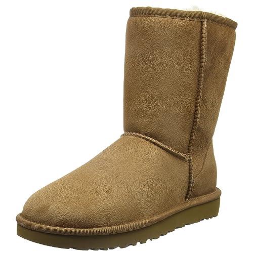 ccbec9b5b19 Tan Fur Boots: Amazon.com