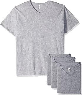 Fruit of the Loom Men's Lightweight Cotton V-Neck T-Shirt Multipack