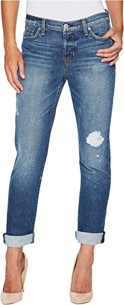 Hudson Riley Crop Relaxed Straight or Rolled Jeans in Set It Off