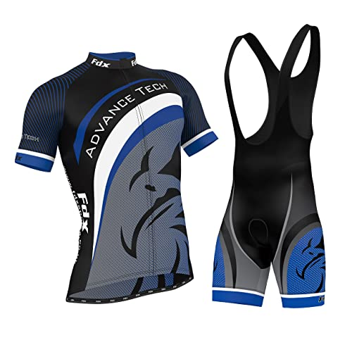 FDX Mens Cycling Jersey Team Cycling Clothing Jersey Bib Shorts Kit Shirt  Sets 19d611181