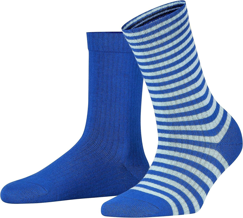 Esprit Sporty Stripe 2 Pack Damen Socken Aus Biobaumwolle Bekleidung