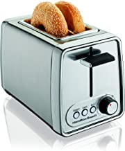 Hamilton Beach Modern Chrome 2-Slice Extra-Wide Slot Toaster with Bagel and Defrost Settings, Shade Selector, Toast Boost, Slide-Out Crumb Tray, Auto-Shutoff and Cancel Button (22791)