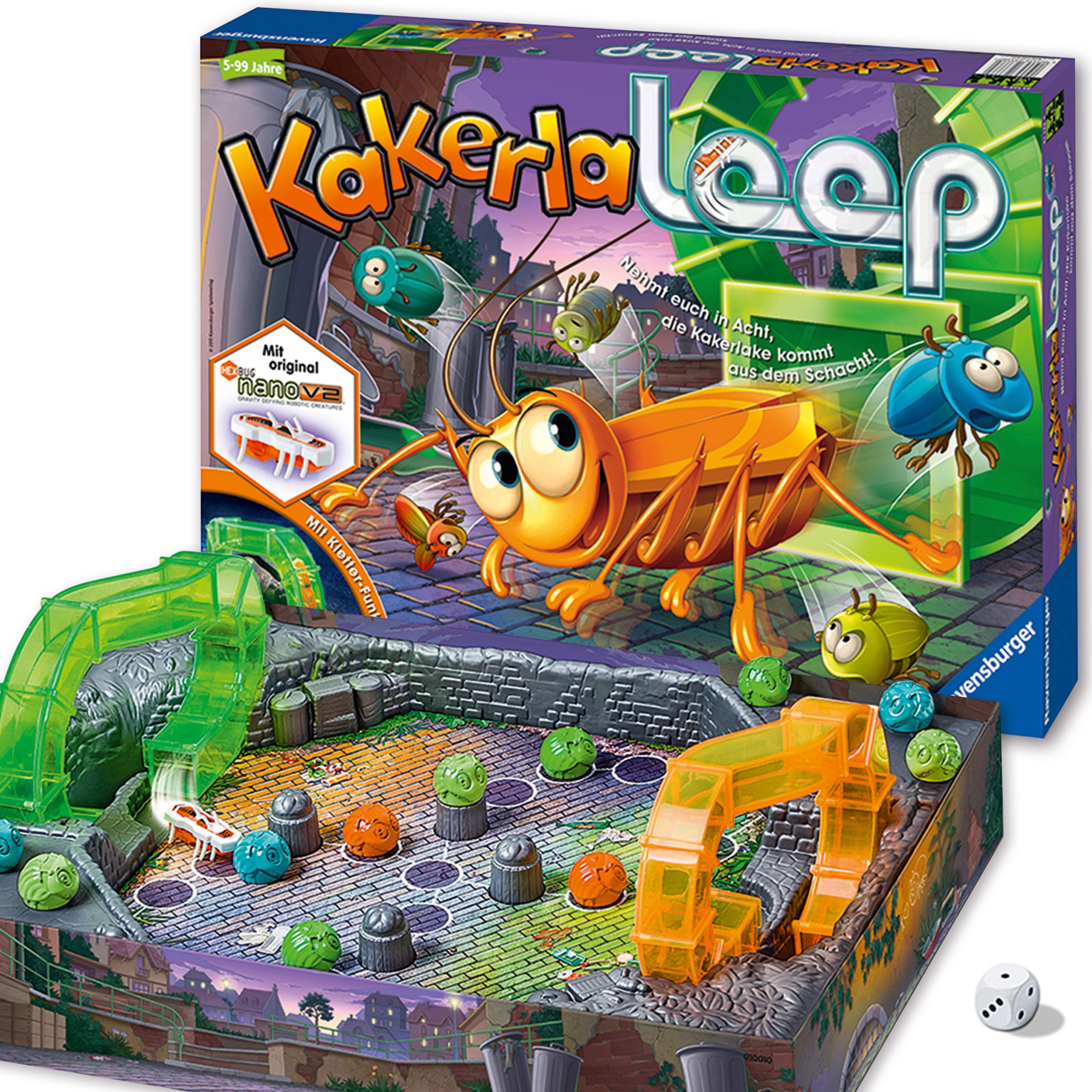 Ravensburger - Juego de reflejos Kakerlaloop, 2 a 4 jugadores (21123) (versión en alemán)  , color/modelo surtido: Brand, Inka & Markus: Amazon.es: Juguetes y juegos
