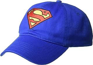 DC Comics Men's Superman Baseball Cap, Royal Blue/Embroidered - Blue - One Size