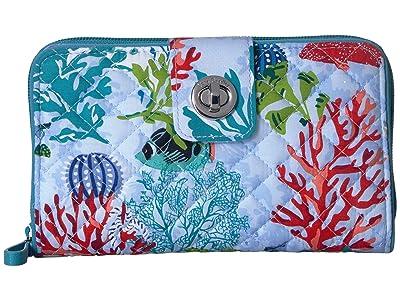 Vera Bradley Iconic RFID Turnlock Wallet (Shore Thing) Wallet Handbags