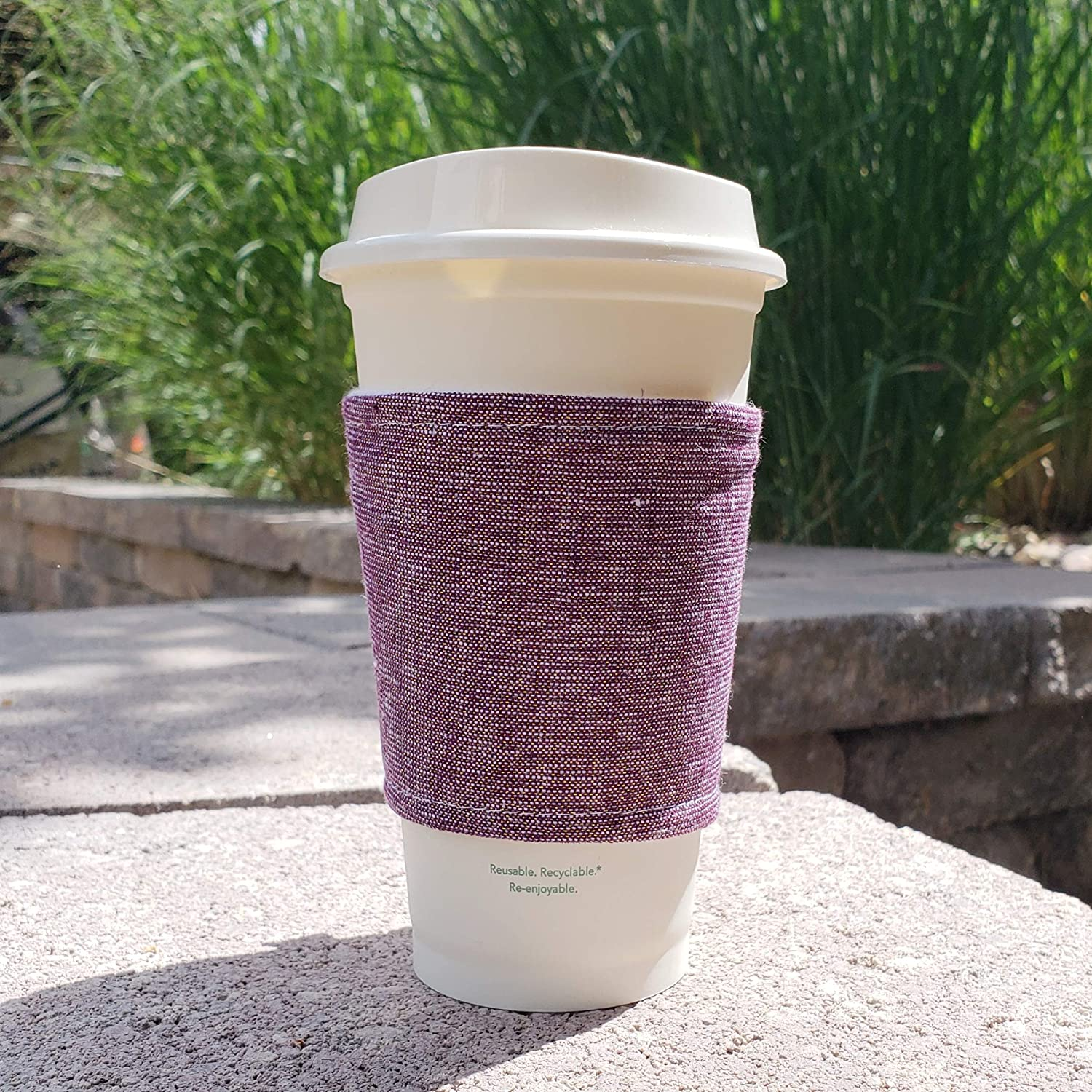Fabric coffee cozy cup sleeve Max 69% OFF holder Denver Mall -