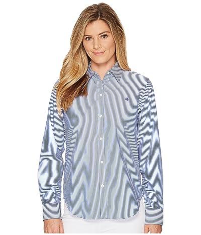LAUREN Ralph Lauren Striped Cotton Shirt (Blue/White) Women