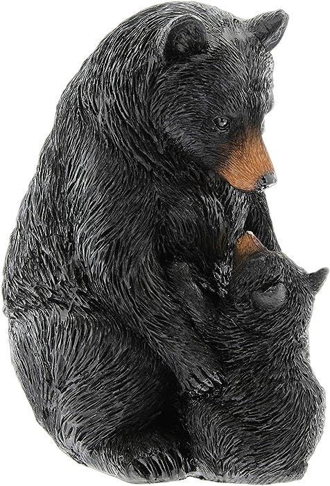 Black Bear with Cub Figurine