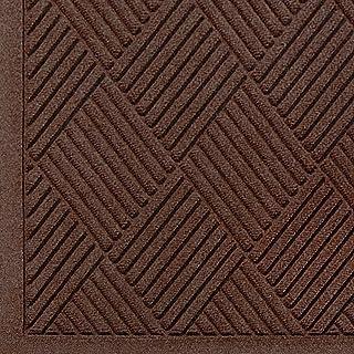 WaterHog Fashion Diamond-Pattern Commercial Grade Entrance Mat, Indoor/Outdoor Medium Brown Floor Mat 3` Length x 2` Width, Dark Brown by M+A Matting