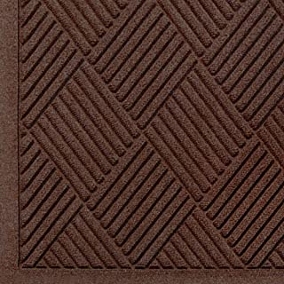 WaterHog Fashion Diamond-Pattern Commercial Grade Entrance Mat, Indoor/Outdoor Medium Brown Floor Mat 3' Length x 2' Width, Dark Brown by M+A Matting