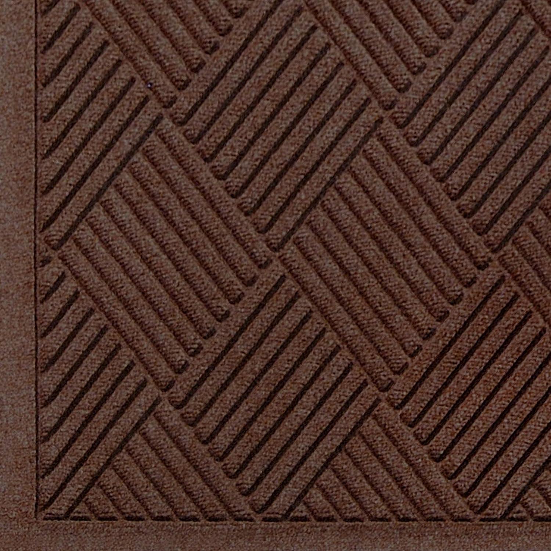 3//8 Thick 4 Length x 3 Width Andersen 221 Waterhog Fashion Diamond Polypropylene Fiber Entrance Indoor//Outdoor Floor Mat Dark Brown SBR Rubber Backing