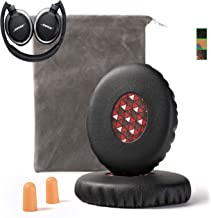 Upgrade Bose On-Ear 2 (OE2) Earpad Replacement Compatible with Bose OE2 OE2i SoundLink SoundTrue Ear Pads Cushion Muffs(On Ear Headphones), Black w/Red Mesh