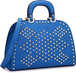 DASEIN Women Rhinestone Handbags Domed Top Handle Purses Shoulder Satchel Work Tote Bag