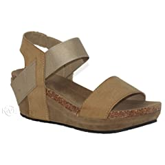 a2c0e4d04fb MVE Shoes Women s Open Toe Strappy Wedge - Summer Vegan Leath .