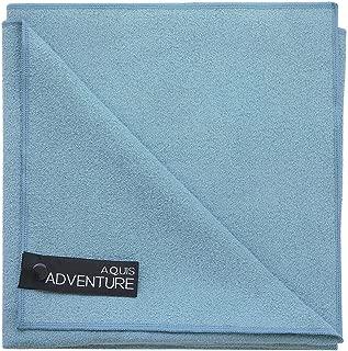 AQUIS Adventure Sports Towel, Large, Seafoam