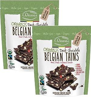 Deavas Belgian Thins Organic Dark Chocolate with Quinoa and Goji, 17.1 oz - 2Pk