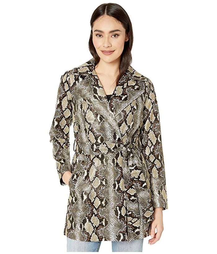 Sam Edelman  All Over Print PU Trench (Python) Womens Clothing