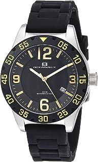 Oceanaut Women's Aqua One Stainless Steel Quartz Watch with Silicone Strap, Black, 18 (Model: OC2810)