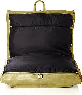 David King & Co Distressed Leather Garment Bag, Tan (Brown) - 6204T