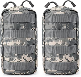 2 Pack Tactical Molle Pouches EDC Waist Bag Pack Small Gear Gadget for Vest