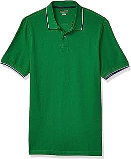 Men's Standard Slim-fit Cotton Pique Tipped Polo