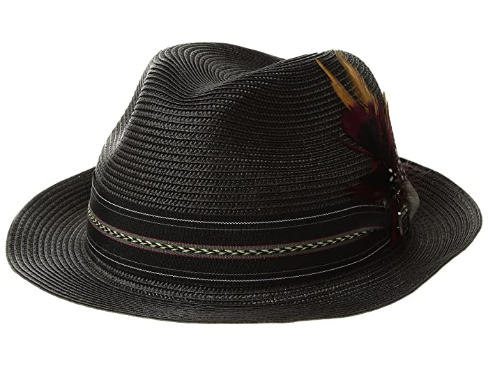 da505e3ed Stacy Adams Poly Braid Pinch Front Fedora with Fancy Band at Zappos.com