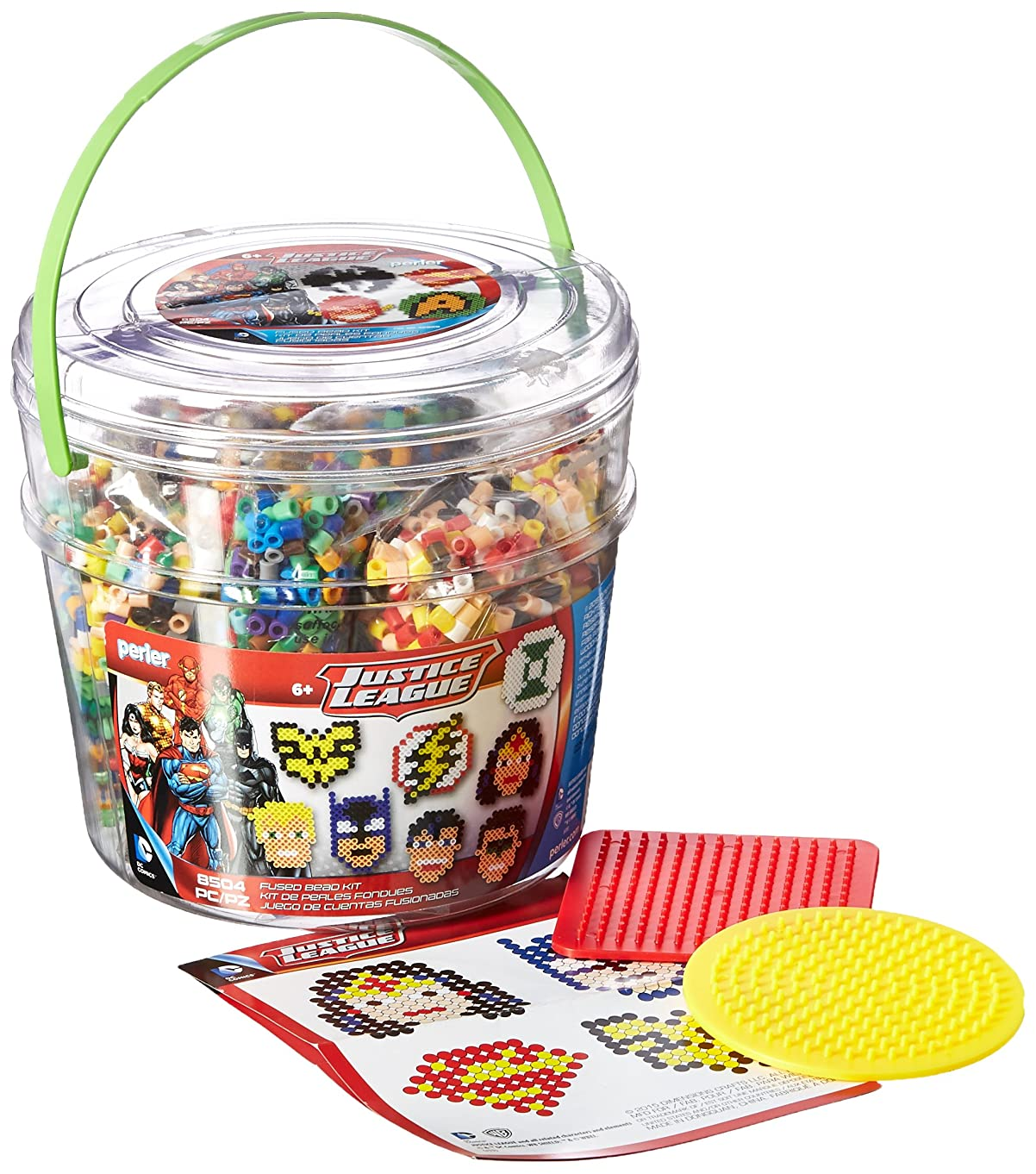 Perler Beads Justice League Fuse Bead Bucket Craft Activity Kit, 8504 pcs