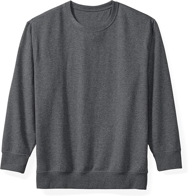 Amazon Essentials Men's Big & Tall Crewneck Fleece Sweatshirt fit by DXL
